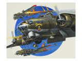 91st Usaaf Bombardment Group Giclee Print by Wilf Hardy