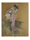 A Dancer Adjusting Her Leotard Giclée-Druck von Henri de Toulouse-Lautrec