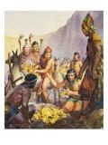 Hidden Gold of the Incas Lámina giclée por  McConnell