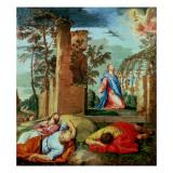 Die Todesangst im Garten Gethsemane (Radierung) Giclée-Druck von Paolo Veronese
