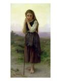 A Little Shepherdess, 1891 Reproduction procédé giclée par William Adolphe Bouguereau