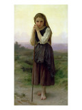 A Little Shepherdess, 1891 Giclee Print by William Adolphe Bouguereau