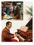 Portrait of Sergei Rachmaninov Giclee Print by Andrew Howat