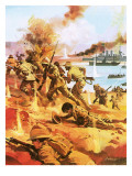 Gallipoli Invasion Giclee Print by Andrew Howat