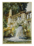 Villa Torlonia, Frascati, 1907 Giclée-tryk af John Singer Sargent