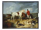 Hunters and Hounds, 1823 Giclée-tryk af Edwin Henry Landseer