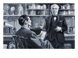 Thomas Alva Edison Giclee Print by Paul Rainer