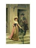 My Next-Door Neighbour, 1894 Giclee Print by Edmund Blair Leighton