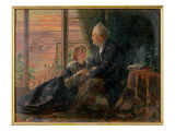 Evening Tales, 1866 Giclee Print by George Elgar Hicks