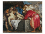 The Entombment of Christ, 1559 Giclée-tryk af  Titian (Tiziano Vecelli)