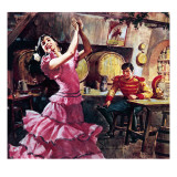 Carmen and Don Jose Stampa giclée di  McConnell