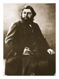 Gustave Courbet, C.1861 Giclee-trykk av  Nadar