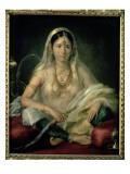Portrait of a Mogul Lady, 1787 Giclee Print by Francesco Renaldi
