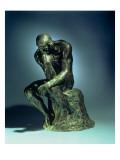 The Thinker, C.1881 Giclée-tryk af Auguste Rodin