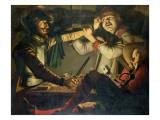 A Quarrel at a Game of Cards Giclée-Druck von Cryn Hendricksz Volmaryn