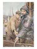 Hauling in the Net Giclee Print by Henry Meynell Rheam