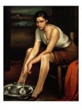 The Alluring Young Girl Giclee Print by Julio Romero de Torres