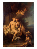 Cupid and Psyche Giclée-tryk af Jacopo Amigoni