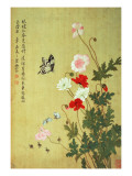 Poppies, Butterflies and Bees Giclee Print by Ma Yuanyu