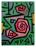 Heroic Roses, 1938 Giclée-tryk af Paul Klee