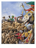 The Battle of Plassey of 1757 Giclee Print by Peter Jackson