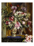 Vase of Flowers, 1871 Lámina giclée por Pierre-Auguste Renoir