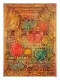 Spiral Flowers, 1926 Giclée-tryk af Paul Klee