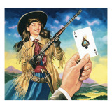 Miss Annie Oakley Giclee Print by Ron Embleton