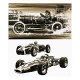 Racing Cars Giclee Print by Wilf Hardy