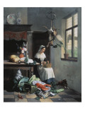 A Maid in the Kitchen Giclee Print by David Noter