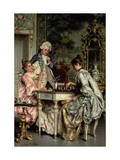 The Game of Chess Giclee Print by Arturo Ricci