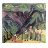 Bergheuer Giclee Print by Ernst Ludwig Kirchner