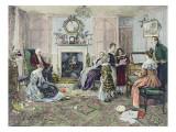 Christmas Carols Gicléetryck av Walter Dendy Sadler