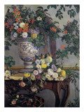 Flowers, 1868 Giclée-tryk af Frederic Bazille