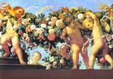 Putti Con Ghirlanda II Plakater af C. Maratta