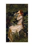 Ophelia, 1894 Giclée-tryk af John William Waterhouse