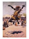 Tribal Dance Lámina giclée por Stanley L. Wood