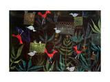 Bird Garden, 1924 Gicléetryck av Paul Klee