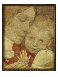 Childhood Gicléetryck av Frederick Cayley Robinson