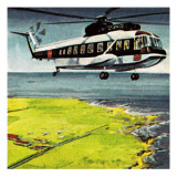 Helicopter Giclee Print by Wilf Hardy