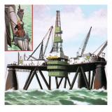 North Sea Oil Giclee Print by John Keay