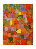 Mountain Village Giclee-trykk av Paul Klee