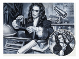 Sir Isaac Newton Giclee Print by Paul Rainer