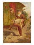 Gypsy Caravan Giclée-tryk af William Mulready