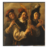 Three Musicians Giclee-trykk av Jacob Jordaens
