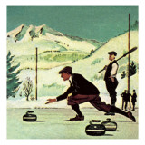 Curling Giclee Print by  English School