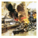 Pearl Harbour Giclee Print by  English School