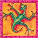 Biotech Lizard Poster von  Step
