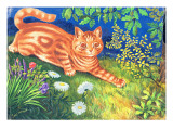 Cat Stalking Reproduction procédé giclée par Louis Wain