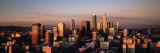 Skyline at Dusk, Los Angeles, California, USA Wallstickers af Panoramic Images,